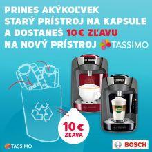 Za starý kapsulový kávovar zľava 10 € na Tassimo