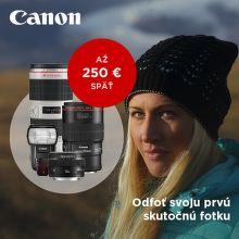 Cashback až do 250 € na objektívy Canon