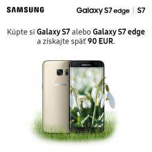 Cashback 90 € na smartfóny Samsung Galaxy S7