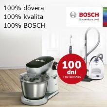 100 dní záruka vrátenia peňazí na vysávače a roboty Bosch
