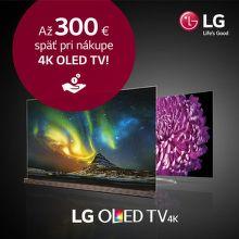 Cashback až do 300 € na 4K OLED TV od LG