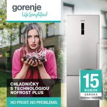 15 ročná záruka na kompresor chladničiek Gorenje