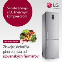 Poukaz v hodnote až do 55 € k chladničkám LG