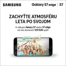 Cashback 129 € na smartfóny Samsung Galaxy S7