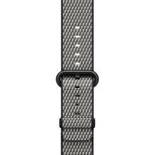 Apple Watch 38mm čierny károvaný nylonový remienok