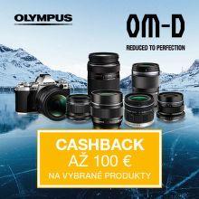 Cashback až do 100 € na vybrané produkty Olympus