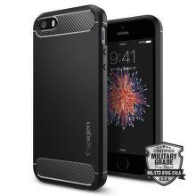 SPIGEN iPhone 5/5S/SE Case Rugged Armor, čierna