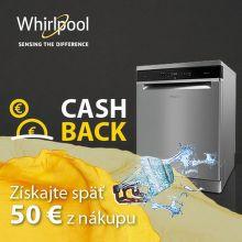 Cashback 50 € na umývačky riadu Whirlpool