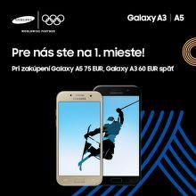 Cashback až do 75 € na smartfóny Samsung