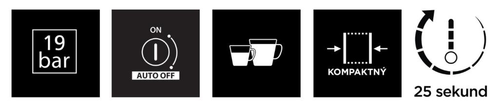 vlastnosti Nespresso Krups Essenza Mini XN110110