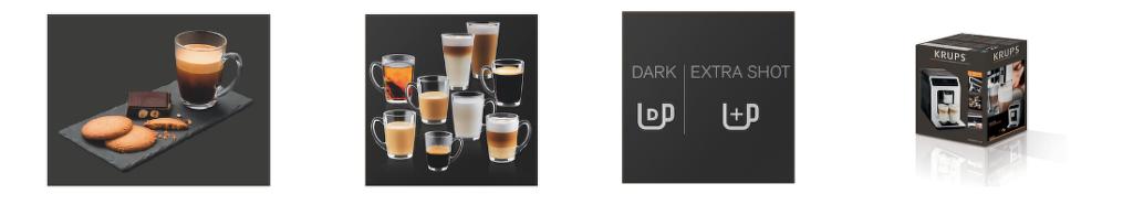 Vlastnosti automatického kávovaru Krups Evidence EA890810