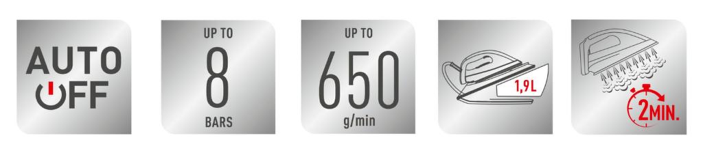 Vlastnosti Tefal GV9620E0 Pro Express Ultimate +
