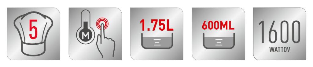 Vlastnosti stolného mixéru Tefal BL91HD31 INFINYMIX+