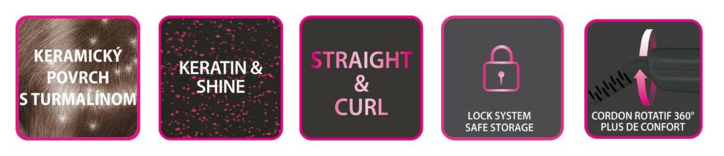 vlastnosti žehličky na vlasy Rowenta SF1612F0