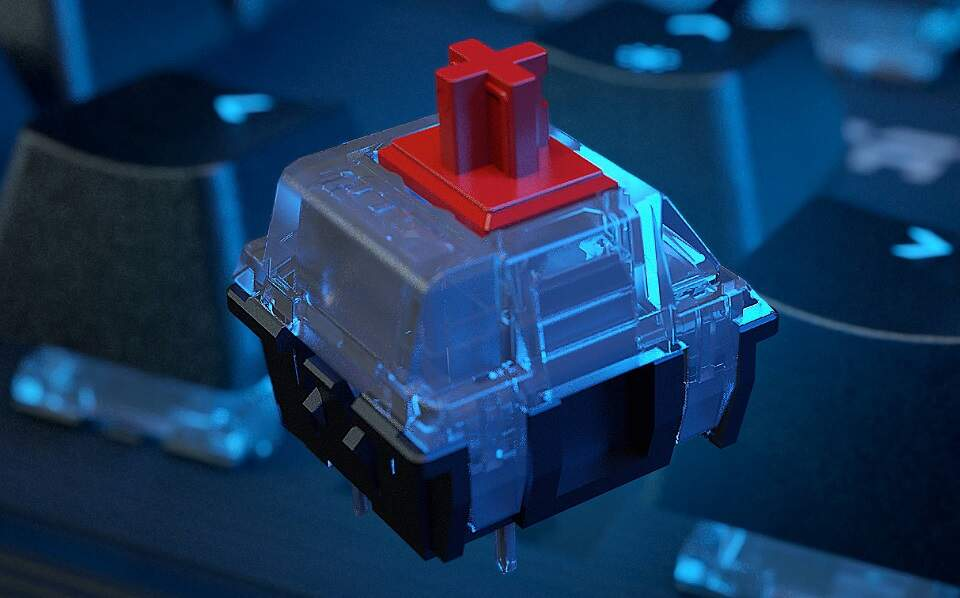 Roccat Pyro TTC RED Switch US čierna