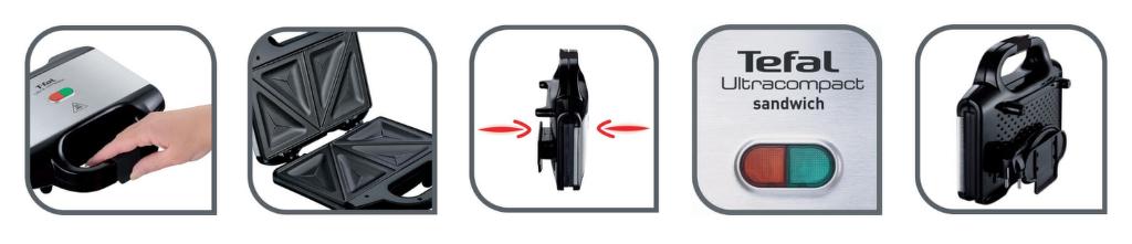 vlastnosti Tefal SM155233 Ultra Compact