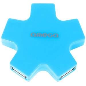 OMEGA 4 PORT STAR BLU, USB Hub