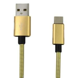 Mobilnet USB/USB-C kábel 1 m, zlatá
