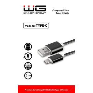 Winner dátový kábel USB - USB-C, 1m (čierny)