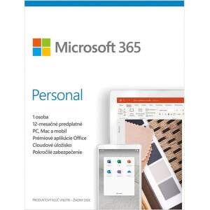 Microsoft 365 Personal SK (1 ROK, 1 UŽIVATEĽ, 1TB CLOUD)