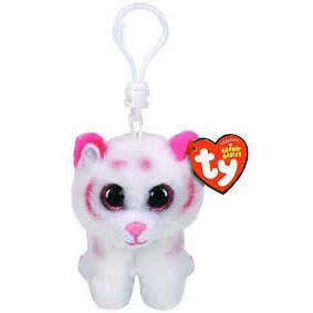 TABOR ružovo-biely tiger 8,5 cm plyšová hračka