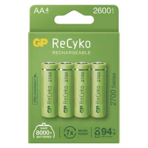 GP ReCyko HR06 (AA) 2600 mAh, 4 ks