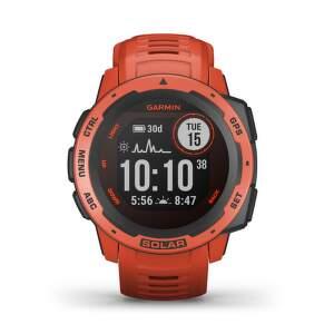 Garmin Instinct Solar smart hodinky červená