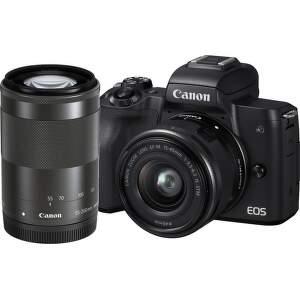 Canon EOS M50 čierna + EF-M 15-45mm IS STM + EF-M 55-200mm IS STM