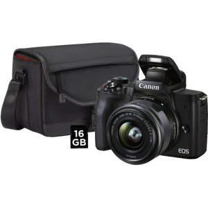 Canon EOS M50 Mark II + EF-M 15-45mm IS STM + SB130 + karta 16GB čierna