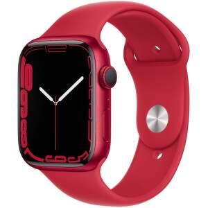 Apple Watch Series 7 45 mm (PRODUCT)RED hliník s (PRODUCT)RED športovým remienkom