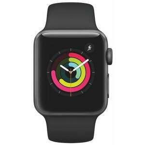 APPLE Watch Series 3 42mm (vesmírne sivý hliník/čierny športový remienok)