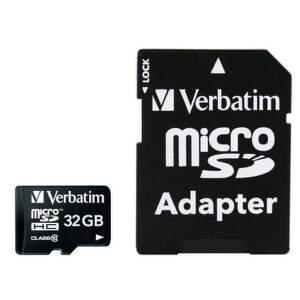 Verbatim microSDHC 32 GB Class 10 UHS-I + SD adaptér