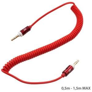 Mobilnet AUX kábel 3.5mm jack (červený)