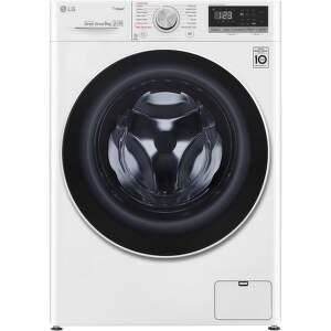LG F4WN509S0, biela smart parná práčka plnená spredu