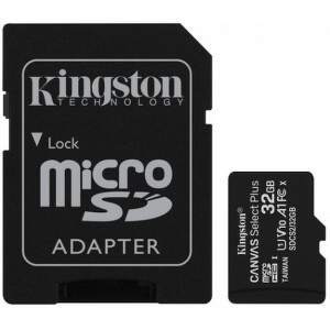 Kingston microSDHC Canvas Select Plus 32 GB UHS-I U1 + SD adaptér