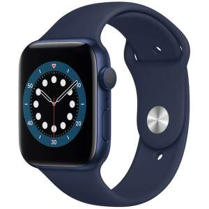 Apple Watch Series 6 44 mm modrý hliník s námornícky modrým športovým remienkom-1