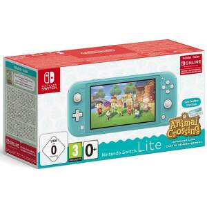 Nintendo Switch Lite Turquoise + kód na hru Animal Crossing: New Horizons + 3M NSO