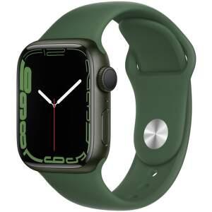 Apple Watch Series 7 41 mm zelený hliník s ďatelinovo zeleným športovým remienkom