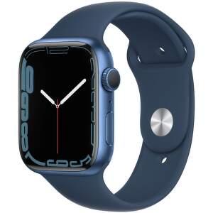 Apple Watch Series 7 45 mm modrý hliník s námornícky modrým športovým remienkom-1__EAEN