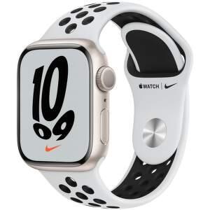 Apple_Watch_Series_7_GPS_41mm_Starlight_Aluminum_Pure_Platinum_Black_Nike_Sport_Band_PDP_Image_Position-1_EAEN