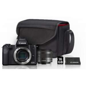 Canon EOS M50 čierna + EF-M 15-45mm IS STM Value Up Kit