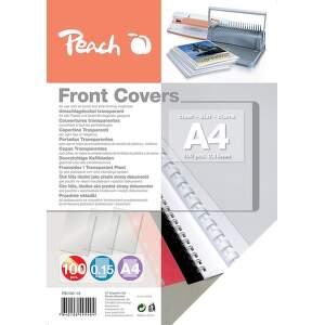 Peach PB100-19 0,15mm A4 100 ks priehľadná krycia fólia