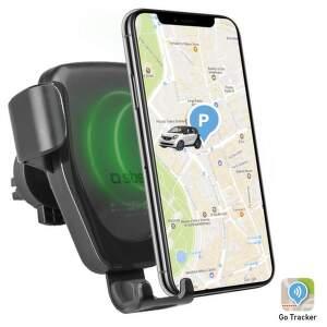 SBS držiak do mriežky s GPS a bezdrôtovým nabíjaním 10W, čierna