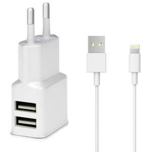 WINNER iPh 5/6 USB WHI, Sieťový + dát. k