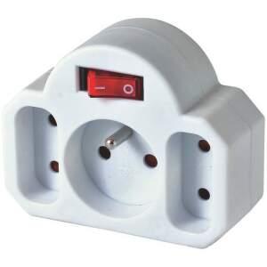 Home NVKF 3WH zásuvka s vypínačom
