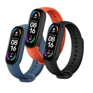 Xaiomi náhradný remienok 3ks pre Xiaomi Mi Band 5/6 čierna, modrá , oranžová