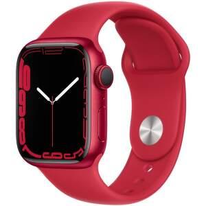 Apple Watch Series 7 41 mm (PRODUCT)RED hliník s (PRODUCT)RED športovým remienkom