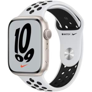 Apple_Watch_Series_7_GPS_45mm_Starlight_Aluminum_Pure_Platinum_Black_Nike_Sport_Band_PDP_Image_Position-1_EAEN