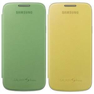 SAMSUNG flipové púzdro EF-FI919BZEGWW (G+Y) pre Galaxy S IV mini