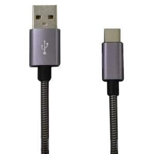 Mobilnet USB/USB-C kábel 1 m, sivá